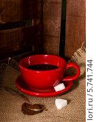 Купить «Кофе с сахаром», фото № 5741744, снято 25 марта 2014 г. (c) Наталья Осипова / Фотобанк Лори
