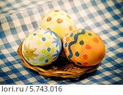 Пасхальные яйца в ретро стиле. Стоковое фото, фотограф ElenArt / Фотобанк Лори