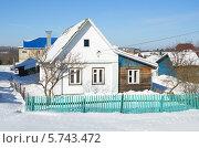 Купить «Сельский домик зимой», эксклюзивное фото № 5743472, снято 24 февраля 2013 г. (c) Елена Коромыслова / Фотобанк Лори