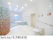 Купить «Интерьер роскошной ванной комнаты  с джакузи», фото № 5749616, снято 16 января 2013 г. (c) Losevsky Pavel / Фотобанк Лори