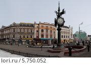 Купить «Пешеходная улица Баумана в Казани», эксклюзивное фото № 5750052, снято 14 марта 2014 г. (c) Кучкаев Марат / Фотобанк Лори