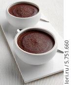 Купить «шоколадный пудинг», фото № 5751660, снято 18 февраля 2019 г. (c) Food And Drink Photos / Фотобанк Лори