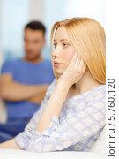 Купить «Семейная ссора. Обиженная жена», фото № 5760120, снято 9 февраля 2014 г. (c) Syda Productions / Фотобанк Лори