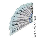 Купить «Доллары США изолированы на белом фоне», фото № 5761928, снято 23 февраля 2019 г. (c) FotograFF / Фотобанк Лори