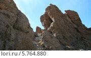 Купить «Скалы де Гарсия, Тенерифе, национальный парк Тейде», видеоролик № 5764880, снято 24 декабря 2013 г. (c) Roman Likhov / Фотобанк Лори