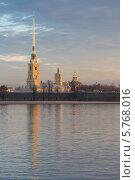Купить «Петропавловский собор и Петропавловская крепость на Неве, Санкт-Петербург», фото № 5768016, снято 29 марта 2014 г. (c) Смелов Иван / Фотобанк Лори