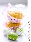 Пасхальный кулич и яйца. Стоковое фото, фотограф Olena Gorbenko / Фотобанк Лори
