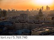 Купить «Москва на закате. Россия», фото № 5769740, снято 28 февраля 2014 г. (c) Liseykina / Фотобанк Лори