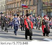 Казаки на параде Победы. Санкт-Петербург (2013 год). Редакционное фото, фотограф Юлия Подгорная / Фотобанк Лори