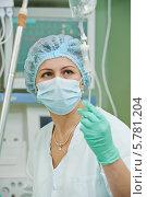 Купить «Врач-анестезиолог в операционной», фото № 5781204, снято 4 февраля 2014 г. (c) Дмитрий Калиновский / Фотобанк Лори