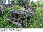 Купить «Willys MB (Виллис) — американский армейский автомобиль повышенной проходимости времён Второй мировой войны. Серийное производство началось в 1941 году на заводах компаний Willys-Overland Motors и Ford (под маркой Ford GPW).», фото № 5784952, снято 21 июня 2013 г. (c) Малышев Андрей / Фотобанк Лори