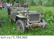 Купить «Willys MB (Виллис) — американский армейский автомобиль повышенной проходимости времён Второй мировой войны», фото № 5784960, снято 21 июня 2013 г. (c) Малышев Андрей / Фотобанк Лори