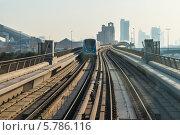 ОАЭ, Дубай, автоматическое метро (2014 год). Стоковое фото, фотограф Семёнов Марк / Фотобанк Лори