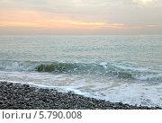 Купить «Черное море. Прибой на закате», эксклюзивное фото № 5790008, снято 1 декабря 2010 г. (c) Самохвалов Артем / Фотобанк Лори