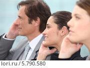 Купить «деловые люди говорят по телефону», фото № 5790580, снято 19 мая 2010 г. (c) Phovoir Images / Фотобанк Лори