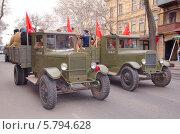 Купить «Реконструкция парада 10 апреля 1944 года посвященная 70-ой годовщина освобождения Одессы от немецко-фашистских захватчиков», фото № 5794628, снято 10 апреля 2014 г. (c) KEN VOSAR / Фотобанк Лори