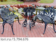 Купить «Чугунная садовая мебель», фото № 5794676, снято 20 октября 2013 г. (c) Хайрятдинов Ринат / Фотобанк Лори