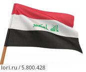 Купить «Флаг развевается на ветру. Ирак», иллюстрация № 5800428 (c) Maksym Yemelyanov / Фотобанк Лори