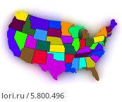 Купить «Карта Соединенных Штатов Америки», иллюстрация № 5800496 (c) Maksym Yemelyanov / Фотобанк Лори