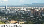Купить «Город Красноярск», видеоролик № 5801960, снято 14 августа 2013 г. (c) Ирина Егорова / Фотобанк Лори
