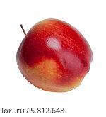 Красное яблоко на белом фоне. Стоковое фото, фотограф Николай Тоцкий / Фотобанк Лори