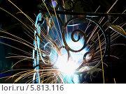 Сварка металла. Стоковое фото, фотограф Ирина Еськина / Фотобанк Лори