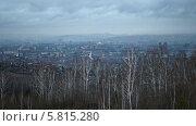 Купить «Пасмурный вечер в Красноярске», видеоролик № 5815280, снято 3 ноября 2013 г. (c) Ирина Егорова / Фотобанк Лори