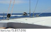 Купить «Круиз на яхте», видеоролик № 5817016, снято 19 ноября 2013 г. (c) Roman Likhov / Фотобанк Лори