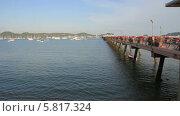 Купить «Пирс на острове Пхукет в районе Чалонг», видеоролик № 5817324, снято 25 сентября 2013 г. (c) Roman Likhov / Фотобанк Лори