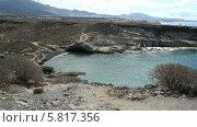 Купить «Небольшой дикий пляж в Ла Калете на юге острова Тенерифе (La Caleta)», видеоролик № 5817356, снято 1 октября 2013 г. (c) Roman Likhov / Фотобанк Лори