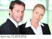 Купить «портрет деловых мужчины и женщины», фото № 5819816, снято 19 мая 2010 г. (c) Phovoir Images / Фотобанк Лори