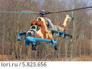 Купить «Армейский ударный вертолёт Ми-24 ВВС Джибути», эксклюзивное фото № 5823656, снято 11 апреля 2014 г. (c) Александр Тарасенков / Фотобанк Лори