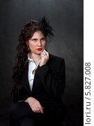 Стильная девушка в шляпке. Стоковое фото, фотограф Николай Тоцкий / Фотобанк Лори