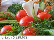 Купить «Свежие нарезанные овощи», фото № 5828672, снято 20 апреля 2014 г. (c) Александр Степанов / Фотобанк Лори