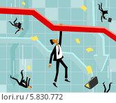 Падение на бирже. Стоковая иллюстрация, иллюстратор Евгений Бакал / Фотобанк Лори