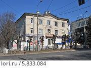Купить «Трехэтажный жилой дом в Солнечногорске», эксклюзивное фото № 5833084, снято 12 апреля 2014 г. (c) lana1501 / Фотобанк Лори