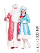 Купить «Дед Мороз и Снегурочка», фото № 5833160, снято 17 октября 2013 г. (c) Сергей Сухоруков / Фотобанк Лори