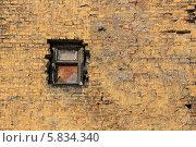 Купить «Старое окно в кирпичной стене», фото № 5834340, снято 17 апреля 2014 г. (c) Федюнин Александр / Фотобанк Лори