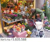 Женщина в цветочном магазине (2012 год). Редакционное фото, фотограф Татьяна Чечина / Фотобанк Лори
