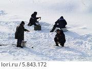 Купить «Четыре рыбака», фото № 5843172, снято 24 марта 2013 г. (c) Анатолий Матвейчук / Фотобанк Лори
