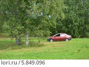 Машина в лесу. Стоковое фото, фотограф Юрий Зотов / Фотобанк Лори