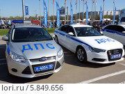 Современные автомобили ДПС (2014 год). Редакционное фото, фотограф Данила Васильев / Фотобанк Лори