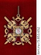 Купить «Знак ордена святого Станислава с мечами», фото № 5853652, снято 9 сентября 2007 г. (c) Анна Воронова / Фотобанк Лори