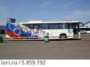 Купить «Олимпийский автобус. Автобусы прибыли из Сочи», эксклюзивное фото № 5859192, снято 5 апреля 2014 г. (c) Инна Козырина (Трепоухова) / Фотобанк Лори