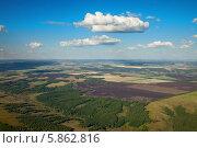 Сельский пейзаж, западная часть башкирии, вид сверху. Стоковое фото, фотограф Владимир Мельников / Фотобанк Лори