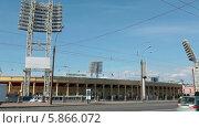 Купить «Здание стадиона Петровский на Петроградке, Санкт-Петербург», видеоролик № 5866072, снято 30 апреля 2014 г. (c) Кекяляйнен Андрей / Фотобанк Лори