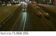 Москва, ночной трафик, таймлапс (2014 год). Стоковое видео, видеограф Евгений Егоров / Фотобанк Лори
