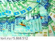 Купить «Фон из купюр Казахстана», эксклюзивное фото № 5868512, снято 18 сентября 2018 г. (c) Blekcat / Фотобанк Лори