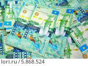 Купить «Фон из купюр Казахстана», эксклюзивное фото № 5868524, снято 12 декабря 2018 г. (c) Blekcat / Фотобанк Лори