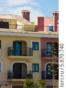 Балконы отеля на Испанском побережье (2013 год). Стоковое фото, фотограф Евгений Андреев / Фотобанк Лори